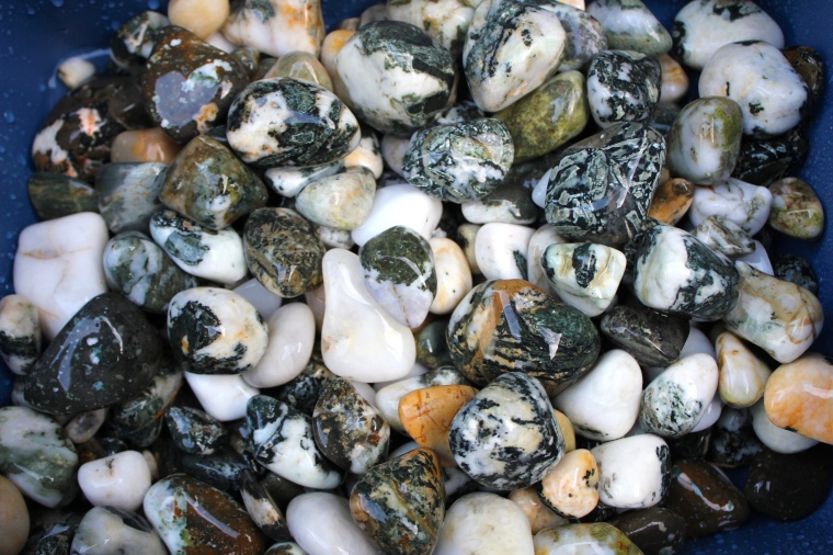Tumbled Dallasite, amygdaloidal basalt, porphyry.