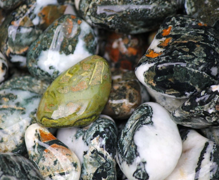 I'm attracted to the green rocks on our BC beaches. This is a nice one.